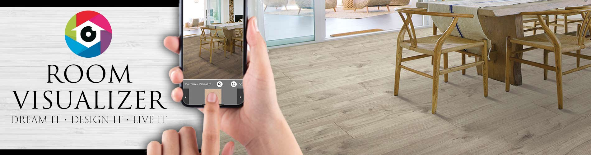 Reinvent your room with new flooring using our Room Visualizer virtual design tool.