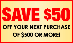 Save $50 on your next purchase Of $500 or more